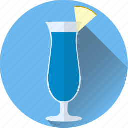 alcohol, beverage, blue, cocktail, hawaiian icon