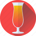 beverage, cocktail, orange, red icon