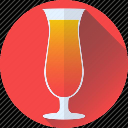 beverage, cocktail, orange, red icon