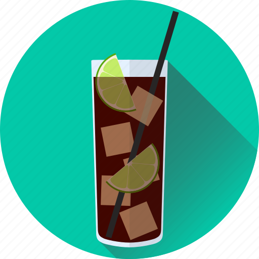 alcohol, beverage, cocktail, cola, cuba, drink, libre, lime icon