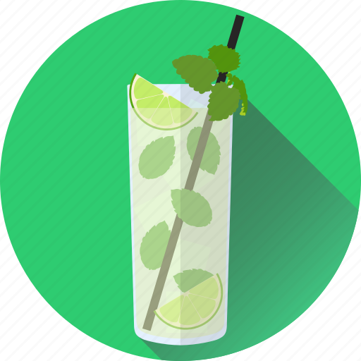 alcohol, beverage, cocktail, drink, mojito, party icon