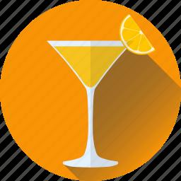 alcohol, beverage, cocktail, drink, orange, vodka icon