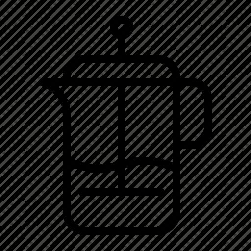 beverage, cafetiere, coffee, drink, hot, ios, pot icon