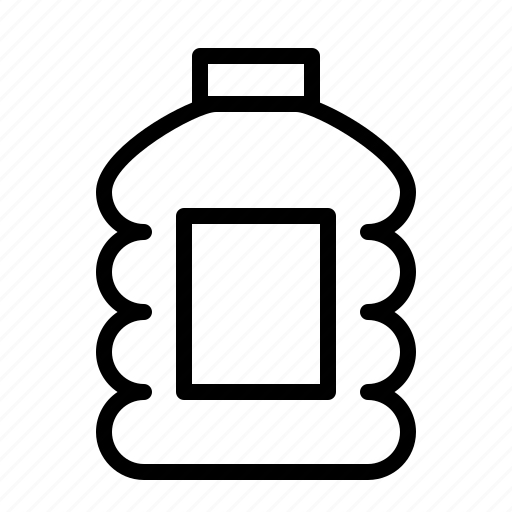 bottle, container, ios, juice, litres, plastic, water icon