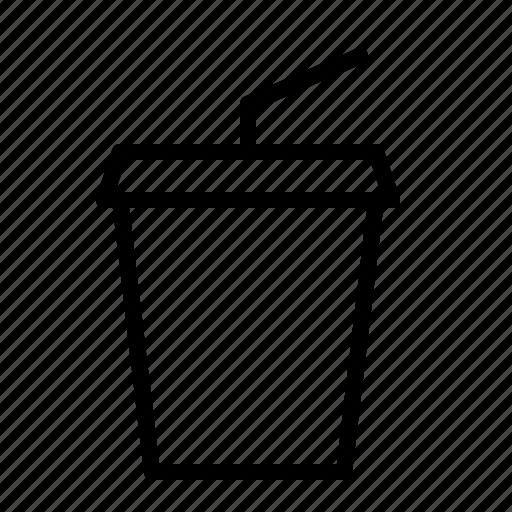 cold, disposable, ios, milkshake, smoothie, straw, takeaway icon