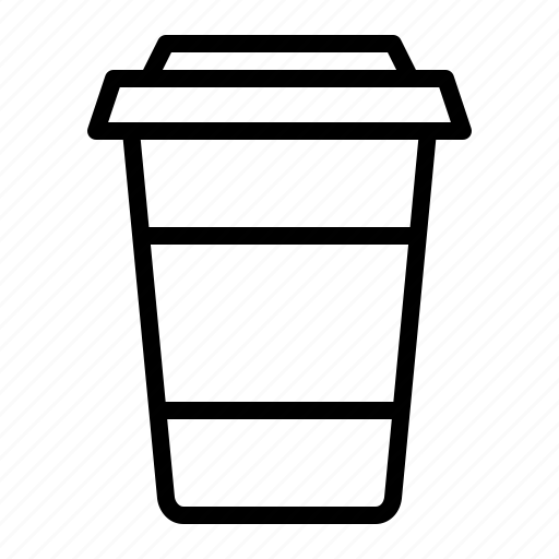 cafe, carton, coffee, cup, ios, recycle, takeaway icon