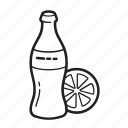 cola, drinks, lemon, snacks, thirst icon