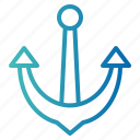 anchor, sea, ship, tool