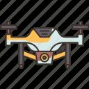 drone, aircraft, quadcopter, surveillance, aerial