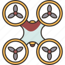 multicopter, propeller, aircraft, rotor, flight icon