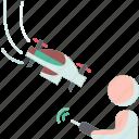 return, aircraft, drones, control, remote