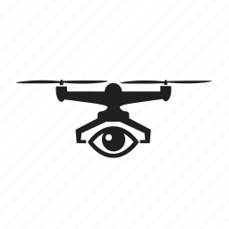 drone, privacy, quadcopter, spy, surveillance, view, watch icon