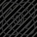 gimbal, stabilization icon