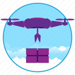 drohne, drone, fly, machine, robot icon