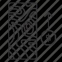 arrow, elevation, increase, map, money, up icon
