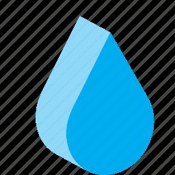 drop, droplet, raindrop, volume, water icon