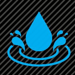 drop, droplet, raindrop, spatter, splash, splatter, water icon