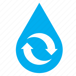 drop, droplet, guardar, raindrop, recycle, recycling, save, water icon