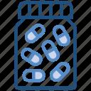 bottle, capsules, drugs, medicine, pharmacy, pills bottle icon