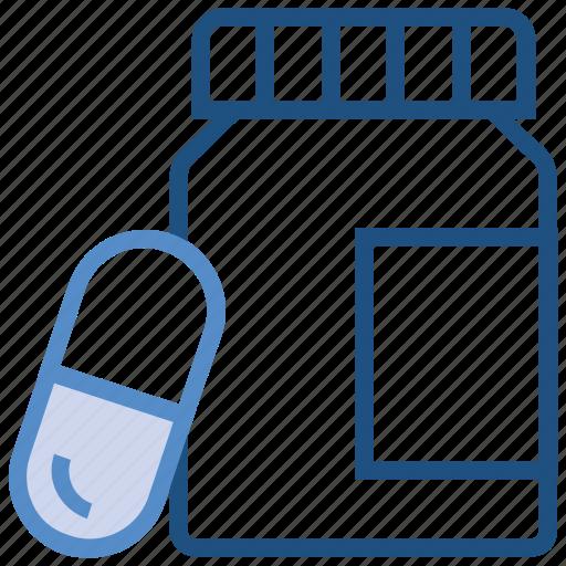 bottle, capsule, drugs, medicine, pharmacy, pills bottle icon