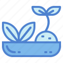 bowl, herbal, leaf, relaxation icon