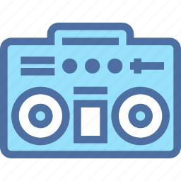audio, boombox, music, player, recorder, retro, sound icon
