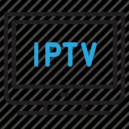 internet, iptv, online, television icon
