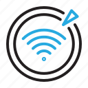 conditioning, signal, wifi, wireless icon
