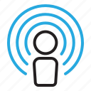 identity, name, settings, wifi, wireless icon