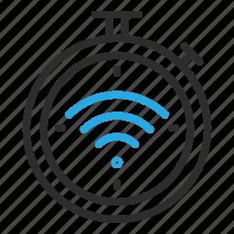 clock, schedule, stop, wifi, wireless icon
