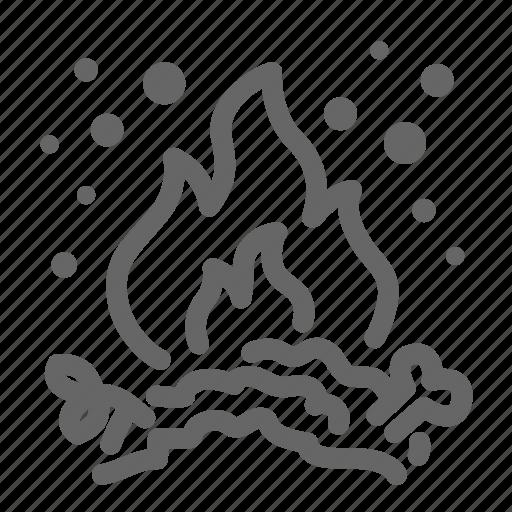 burn, dirt, dust, fire, garbage, pollution, smoke icon