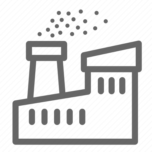 dirt, dust, factory, pollution icon