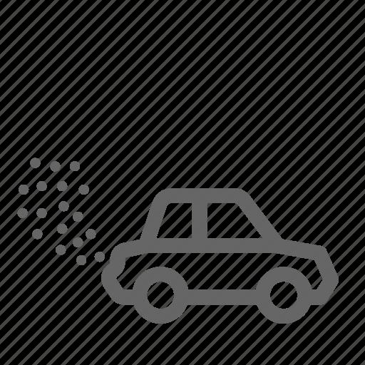 car, dust, pollution, smoke icon