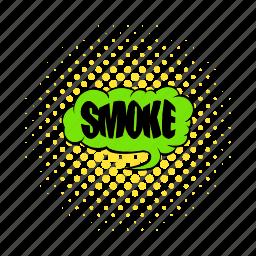 addiction, comics, smoke, smoking, text, word, wording icon