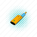 battery, comics, device, mod, nicotine, vape, vaporizer icon