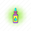 bottle, cigarette, comics, e-liquid, electronic, juice, vape icon