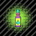 bottle, cigarette, comics, e-liquid, electronic, juice, vape icon