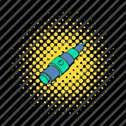 atomizer, cigarette, comics, e-cigarette, electronic, mod, vaping icon