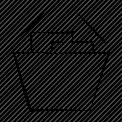 basket, full, full basket, hand drawn, shopping basket icon