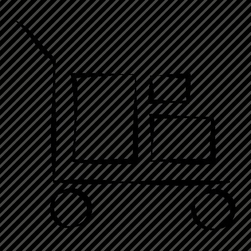 cart, full, full cart, hand drawn, shopping icon