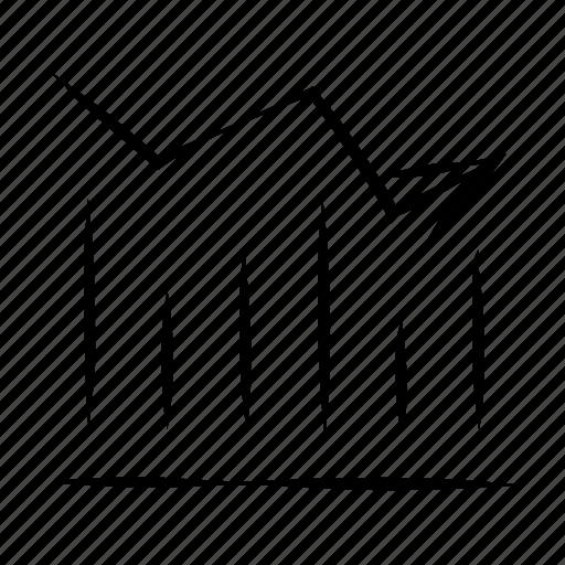 chart, diagram, graph, hand drawn, report icon