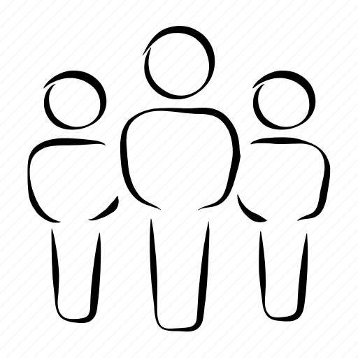 group, group activity, hand drawn, meeting, people icon