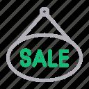 board, ecommerce, hang, sale, shop icon