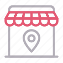 ecommerce, gps, location, shop, store icon