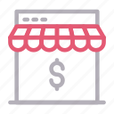 dollar, ecommerce, online, shop, store icon