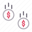 cash, coins, dollar, money, pay icon