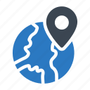 global, gps, internet, location, map icon