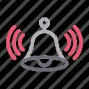 alarm, alert, bell, notification, ring
