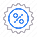 badge, discount, offer, shopping, sticker icon