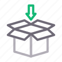 box, carton, delivery, package, parcel icon